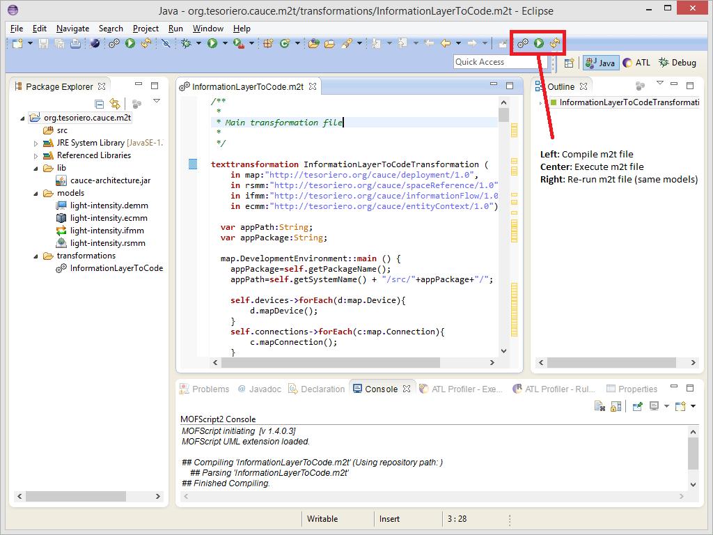 MOFScript toolbar